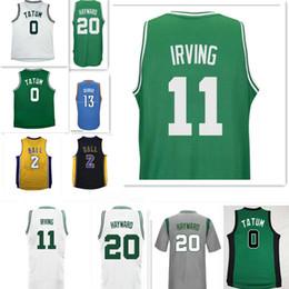 Wholesale 11 Ball - 2017 New Kyrie Irving #11 jersey Men Draft Piack Kyrie Irving jersey Gordon Hayward Jayson Tatum Jerseys Paul George Lonzo Ball jersey