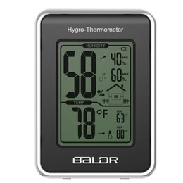 Wholesale Digital Thermometer Max - arden Supplies Household Thermometers Baldr Mini LCD Digital Thermometer Hygrometer Home Indoor MAX MIN Record Humidity Temperature Meter...