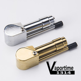 Wholesale metal ashtrays - Brass Proto Pipe Smoking Pipe Ashtray Bowl Smoke Pipes Metal Portable Golden Sliver Color Tool Herb China Factory Direct 033