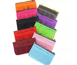 Wholesale Wholesale Sports Bags Cheap - Hot sale cheap 10 colors double zipper Women Men Casual travel multi functional Make up Cosmetic Bags