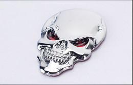 Wholesale Toyota Logo Emblem Sticker - DSYCAR 3D Metal Skull Motorcycle Bike Car Sticker Logo Emblem Badge Car Styling for Fiat Bmw Ford Lada Audi opel toyota volvo VW