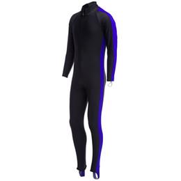 Wholesale Jumpsuits Suits - Diving Suit Wetsuit Unisex Watersport Sunscreen Keep Warm Jumpsuit Diving Suit Wetsuit Lightweight Quick-drying Gail-length Zipper Wetsuit+B