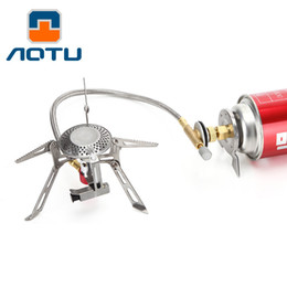 Wholesale Camp Ovens - AOTU Outdoor Camping Gas Burner Ovens Portable Picnic Folding Stove kitchen 3000W Camping Gas Stove 142