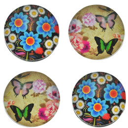 Wholesale Earring Butterfly Clasp - 18mm Round Noosa Flower Butterfly Women Jewelry Crystal Buttons Snap Charm Buttons Accessories For DIY Noosa Necklace Earring N26S