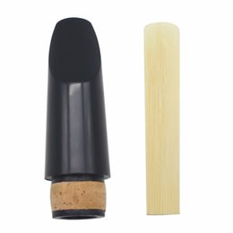 Wholesale Reed Clarinet - Wholesale- High Quality Plastic Clarinet Mouthpiece With Bamboo Reed Woodwind Instrument Accessories Clarinet Parts