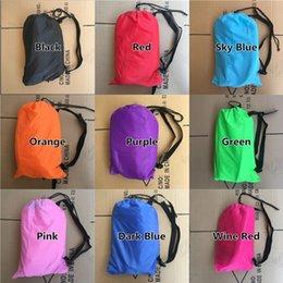 Wholesale Air Bag Shipping - Drop shipping Fast Inflatable Lazy bag Sleeping Air Bag Camping Portable Air Sofa Beach Bed Air Hammock Nylon Banana Sofa