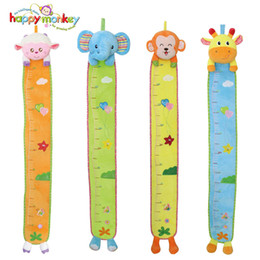 Wholesale Kawaii Wall - Wholesale- Baby Toys Height Measure Wall Stickers Growth Chart Rattles Mobile Soft Kawaii Stuffed Plush Animals For Kids Children Babies