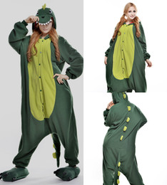 Wholesale Dinosaur Pajamas Adults - Lovely Green-dinosaur Cheap Easily Kigurumi Pajamas Anime Pyjamas Cosplay Costume Adult Unisex Onesie Dress Sleepwear Halloween