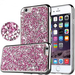 Wholesale Flash Crystal Case - For iPhone X 8 Diamond TPU Case Crystal Luxury Glitter Bling Flash Soft Cover for Samsung Galaxy On5 S7 Edge Huawei Mate8 LG tribute hd ls67