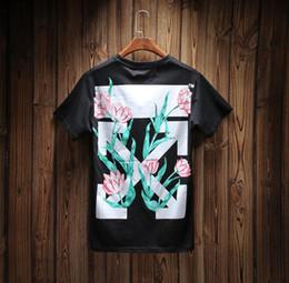 Wholesale Gothic For Men - Off white T-shirt for men Fog Longline T shirt Black Brand Clothing Hip Hop Fear Gothic Tshirt Men Tee Kanye West Of God