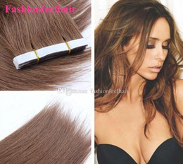 """Wholesale Extension Tapes - Tape In Hair Extension Remy 18""""-28""""2.5g pc 20pcs lot #1B,#2,#4,#6,#8,#27,#33,#613 in Stock PU Skin Weft Extension Tape Skin Weft Adhesive"""