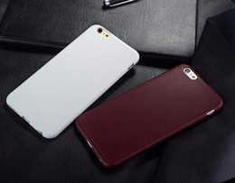 Wholesale Iphone Leather Texture Case - For iPhone 7 Super Thin Leather Pattern Texture Phone Cases for iPhone 5 5S SE 6 6S 4.7 Plus 5.5inch Luxury Soft TPU Comfort Back Cover