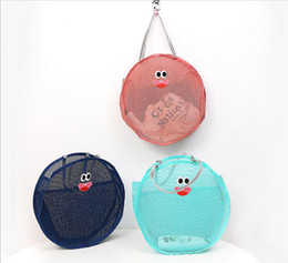 Wholesale Toys For Two Women - 2pcs 2017 New Cute Round Mesh Beach bags For Women Kids Beach Toys Receive Bag