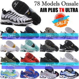 Wholesale Tan For Cheap - Cheap quailty Fashion TN Air Running Shoes For Mens Air Plus TN Ultra Shoes Sports TN Requin Sneakers Breathable Men Running Shoes 40-46