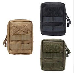 Wholesale Fabric Life - Newest 600D Outdoor Military Tactical Life Bag Multifunctional Tool Pouch EDC Springs Hinge Hunting Durable Belt Pouches Packs