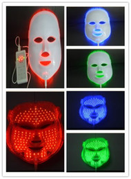 Wholesale Led Red Blue Light Therapy - LED Photon Therapy Red Blue Green Light Treatment Facial Beauty Skin Care Phototherapy Mask