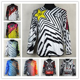 Wholesale Dh Race Bike - 2017 2016 ANSWER Rock Star Moto Jersey MX MTB Off Road Mountain Bike DH Bicycle Jersey DH BMX Motocross jersey 3 styles