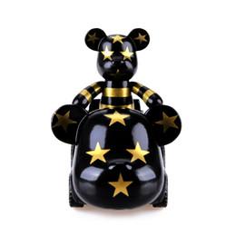 Wholesale Momo Star - The original car violence bear ornament MOMO bear 2 inch special edition doll car decoration black and stars for cartoon kids toy