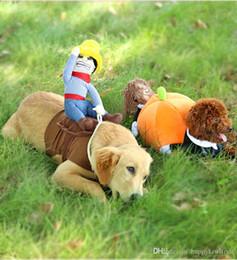 Wholesale Cute Funny Dog Clothes - Halloween Dog Costume Pumpkin Dog Clothes Novel Pumpkin Pet Coat Fleece Small Dog Super Cute Costume Funny Pet Clothes