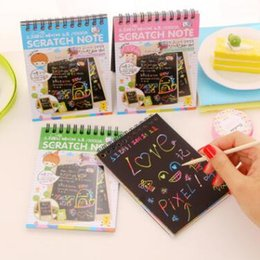 Wholesale Diy Doodle - DIY Doodling Scratch Painting Book Kids Children Educational Toys Magic Scratch Art Note Book Scraping Drawing Notebook Baby Doodle Toys