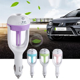 Wholesale Car Aromatherapy Diffuser Wholesale - 2017 New Car Humidifier Air Mist Diffuser Purifier Car Humidifiers Air Cleaning Mini Charging Portable Water Bottle Steam Humidifier