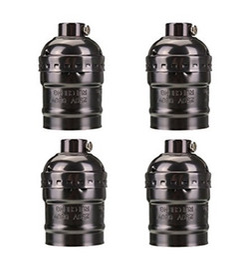 E27 lampenschale online-E27 Sockel Schraube Lampen Metall Shell Medium Base Edison Retro Pendelleuchte ohne Schalter und Kabel 110-220V