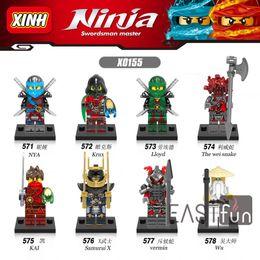 Wholesale Wholesale Ninja Weapons - 8pcs High Quality Compatible LegoINGlys NinjagoINGlys Sets Ninja Heroes Kai Jay Cole Zane Nya Lloyd With Weapons Action Toys Building Blocks
