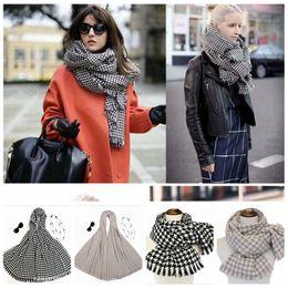 Wholesale Ladies Shawls Styles - Unisex Scarf Swallow Gird Pattern Fashion Shawls Ladies Shawl Thicker Tassles Wrap Keep Warmer 3 Styles 50 pcs YYA671
