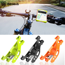 Wholesale universal mobile phone bike stand - Baseus Flexible Bicycle Phone Holder For iPhone X 8 Samsung Universal 4-6 inch Bike Mount Mobile Phone Holder Stand Support Navigation GPS