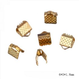 Wholesale Diy Gold End Crimps - 6MM 80pcs lot Trendy Style Cord Crimp Ends For Necklace Bracelet Handmake Alloy DIY Jewelry Findings Parts Accessories OL-14
