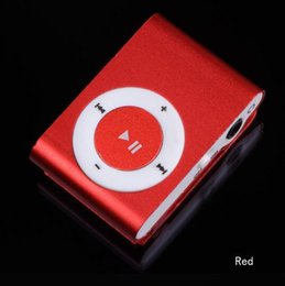 Wholesale Free Music Clip - NEW Fashion Mini Cheap Clip Digital Mp3 Music Player USB with SD card Slot black silver mixed colors DHL Free