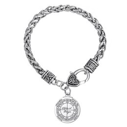 Wholesale Lobster Clasp For Key Chains - Key of Solomon Hermetic Enochian Kabbalah Pagan Wiccan Pentagram Bracelet For Men and Women a gift for Festival