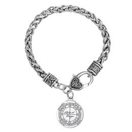 Wholesale religious key chains - Key of Solomon Hermetic Enochian Kabbalah Pagan Wiccan Pentagram Bracelet For Men and Women a gift for Festival