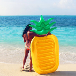 Wholesale Large Pineapple - 190*80CM Float Inflatable Pineapple Pool Floats Large Outdoor Swimming Pool Raft Inflatable Pool Toy Float Lounge Toy For Adults Kids