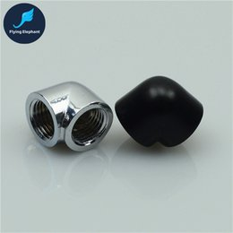 Wholesale Copper Elbow - Wholesale- G1 4 Internal Dual Thread Elbow Female Tee For Computer Water Cooling DIY 1pcs