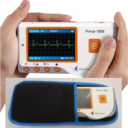 Wholesale Monitor Cable Ecg - Upgrade Home Use Portable handheld Heart Ecg Monitor Software Electrocardiogram Electro electrocardio scanner CE approve 3 lead ECG cable