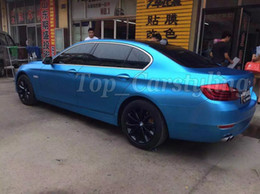 Wholesale Matte Blue Vinyl Car Wrap - Metallic Matte titanium Blue Vinyl For Car Wrap Skin For Vehicel styling With Air Release aluminum Matte Film 1.52x20m Roll