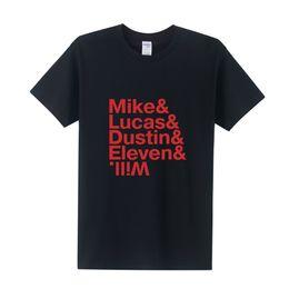 Wholesale Eleven S - Wholesale- New Design Men Mike Dustin Lucas Eleven T-Shirt Summer Short Sleeve Round Neck Stranger Things T Shirt XS-XXXL Men Tees OT-259