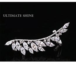 Wholesale Sweeter Wings - wholesale s925 sterling silver needle crystal wing earrings, hot selling shiny rhinestone sweet girls ear stud