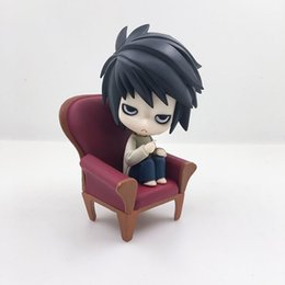 Wholesale Red Death Toy - Anime Death Note L Lawliet Figures Cute Toys PVC Collection 10cm Gift New In Box a