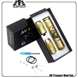 Wholesale Mechanical E - Wholesale- 2017 HOT AV Trooper Mod Set e cigarette mechanical mod kit for 18650 battery 510 thread Full Mech Able Storm Kit free shipping