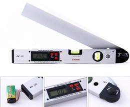 Wholesale Free Slope - 16'' Laser Ruler Spirit Level Aluminum Angle Slope Finder Vertical+Horizontal Digital Display H1658 FREE SHIPPING MYY