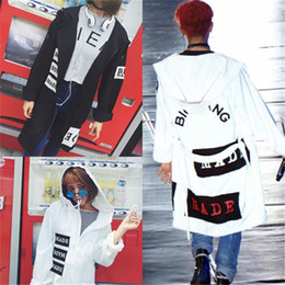 Wholesale Kpop Gd - Wholesale- 2017 New kPOP Bigbang MADE Loose Cardigan Hoodie GD Same Style Oversized Jacket Men women Unisex Coat KPOP free shipping