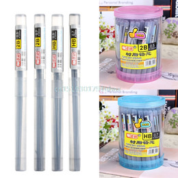 Wholesale Refill Leads - Wholesale- New 2B HB Pencil Lead a Refill Tube 0.5 mm   0.7 mm Automatic Pencil Lead Style 11CM