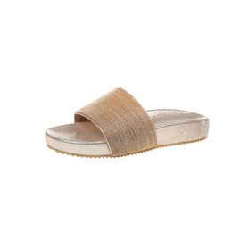 Wholesale Beach Clogs - Slides Summer Sequined Cloth Gingham Slippers Women Shoes Ladies Outside Or Indoor Shoes Clog Summer Slipper Flip Flops Gold Slippers