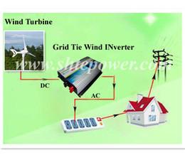 Wholesale Inverter Tie Wind - 250w DC 22-60v input to ac 90-130v 190-260v wind grid tie inverter LED light