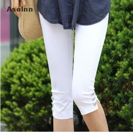 Wholesale Crops For Sale - Wholesale- Hot Sale Women's Plus Size S-XXXL Summer Slim Waist Candy Color Stretch Leggings Capris Fashion Pencil Pants Crops For Female