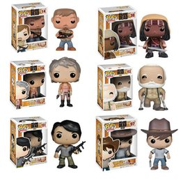 Wholesale Pop Figure Funko - Funko Pop the Walking Dead PVC Action figure Daryl Michonne Kids Toys Prison Glenn Rhee Carol Hershe Negan Good quality Gift