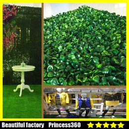 Wholesale Artificial Plastic Boxwood Mat - Artificial Grass plastic boxwood mat topiary tree Milan Grass for garden,home ,wedding decoration Artificial Plants MPB002