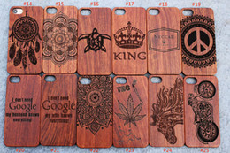 Wholesale Engrave Wood - Custom Laser Engraved Wood Phone Case Wood Cases For Iphone 5s 6 6s plus 7 7plus Samsung Galaxy S5 S6 S7 Edege